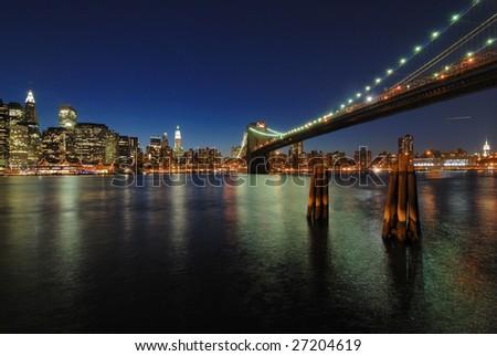 Silence bridge - stock photo
