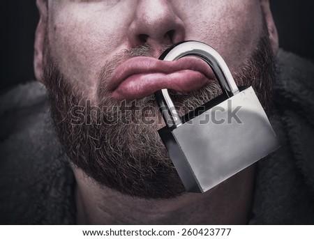 Silence concept - stock photo