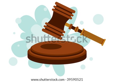 Silence! The Court Is In Session - stock photo