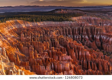 Silent City - Bryce Canyon - stock photo