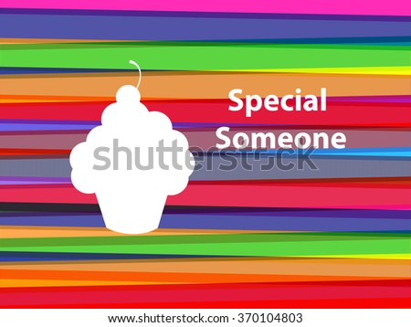 Silhouette Cupcake - Special Someone - stock photo