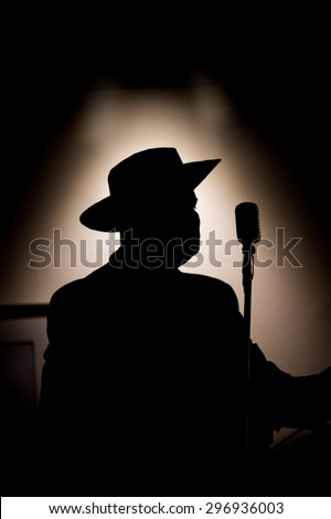 Guitarist On Stage Silhouette