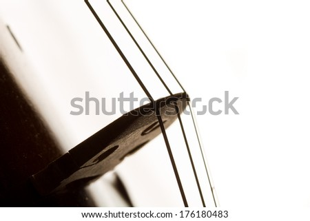 Silhouette of a violin selective focus - stock photo