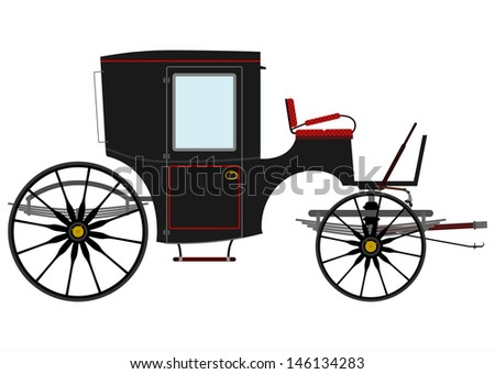 Horse Drawn Carriage Silhouette Black Horse Drawn Carriage