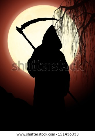Silhouette of death - stock photo