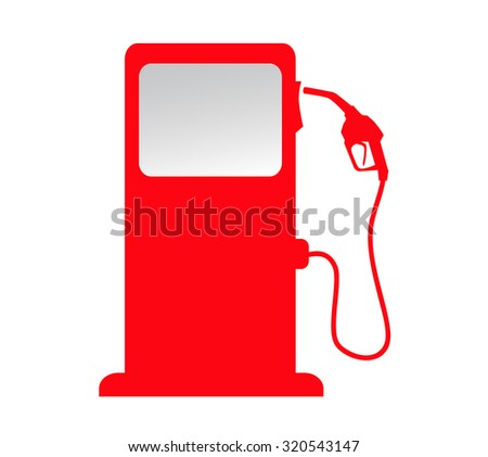 silhouette of gas station pump icon - stock photo