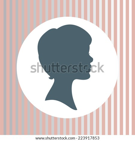 Woman Profile Logo Silhouette of Woman Face