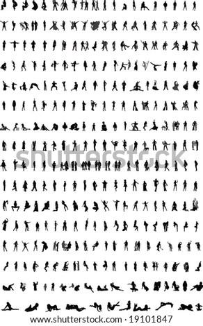 Silhouettes - stock photo