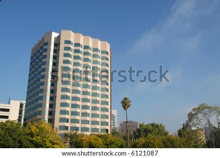 Silicon Valley office building, San Jose, California - stock photo