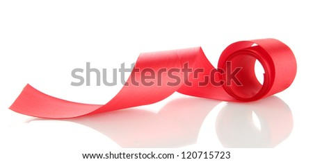silk ribbon, isolated on white - stock photo