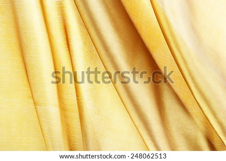 silk textured for background, gold brown color. - stock photo