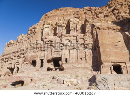 Silk Tomb. Petra. Jordan. - stock photo