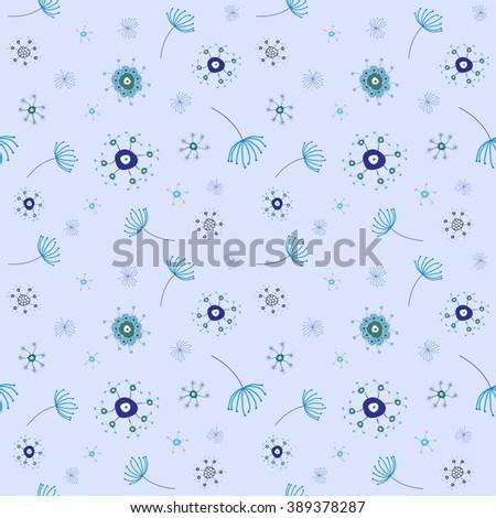 silly funky pattern, abstract seamless texture, art illustration - stock photo
