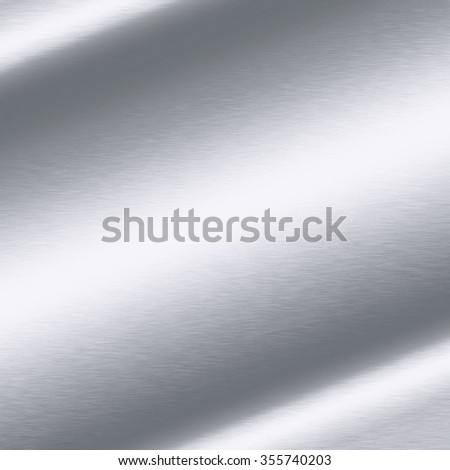 silver background texture metal plate - stock photo