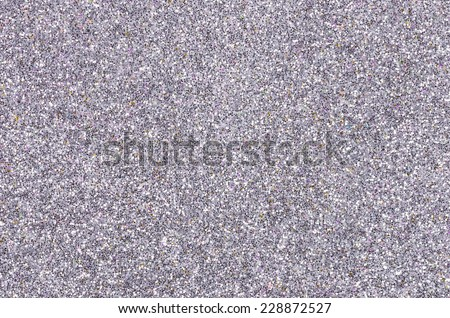 Silver background with glitter - stock photo