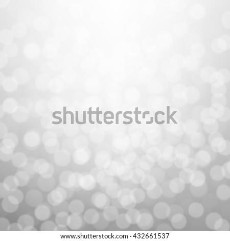 Silver Bokeh Background  - stock photo