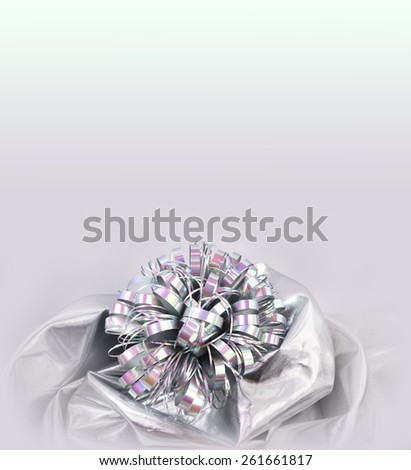 Silver bow - stock photo