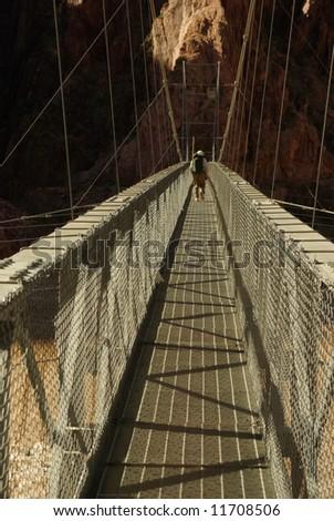 Silver Bridge, Colorado River, Grand Canyon National Park, Arizona - stock photo