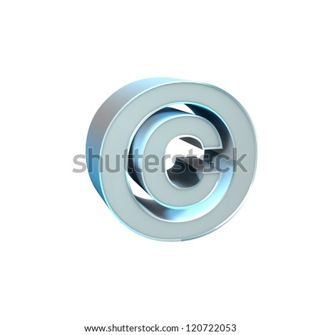 Silver Character Collection. Copyright. - stock photo