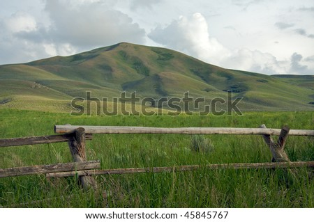 Silver Creek Idaho Ranch - stock photo