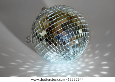 silver disco ball - stock photo