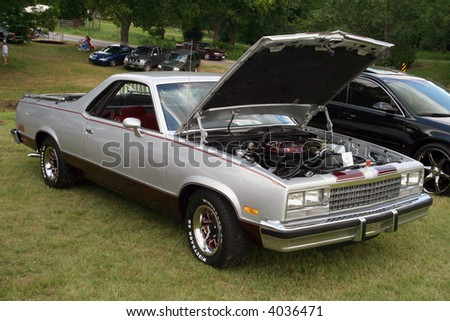 Silver El Camino - stock photo