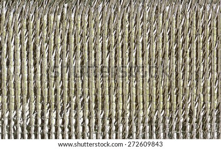 Silver foil insulation texture,close up view. - stock photo
