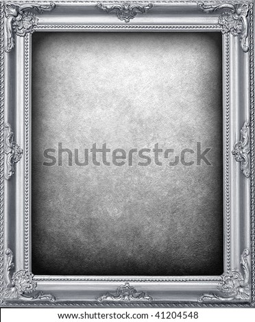 silver frame background - stock photo