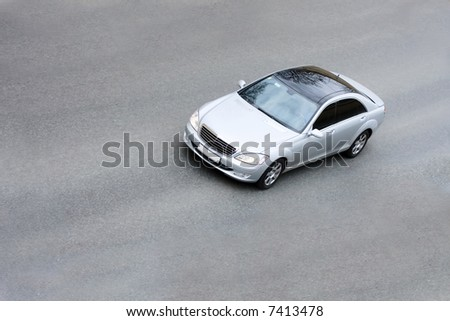 """silver german limo car  part of  """"luxury cars"""" series - stock photo"""