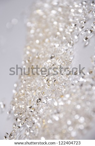 Silver Glitter background - stock photo