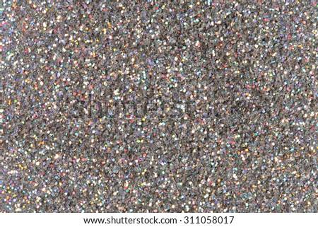 Silver glitter background. - stock photo