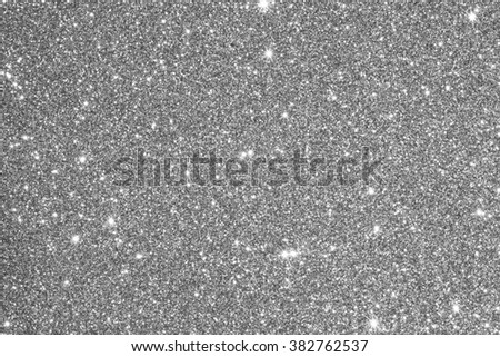 silver glitter texture abstract background - stock photo