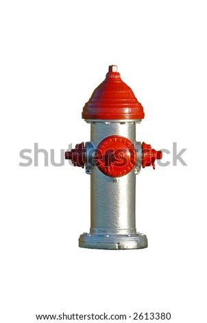 Silver hydrant - stock photo