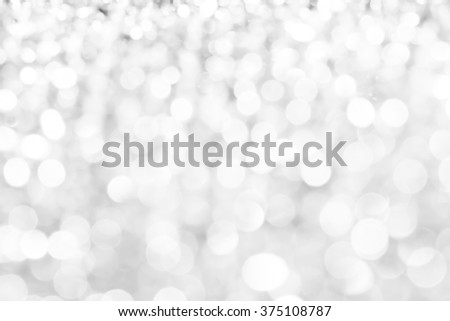 Silver lights bokeh background, abstract defocused glowing circles - stock photo