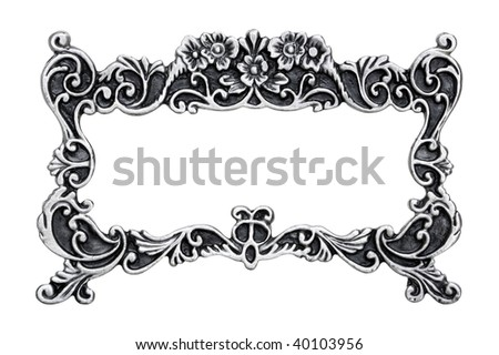 Silver Message Frame - stock photo