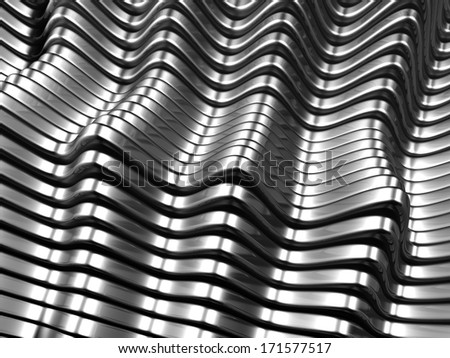 Silver metal abstract background 3d illustration - stock photo