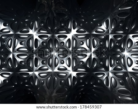 Silver metal abstract tile pattern background 3d Illustration - stock photo