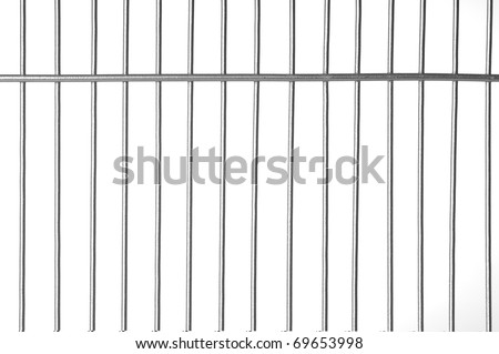 Silver metal bars with white background - stock photo