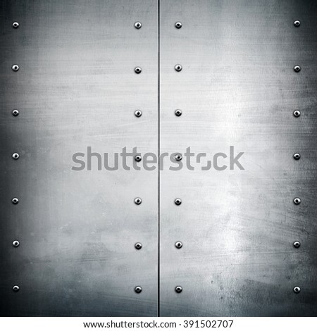 silver metal plate background - stock photo