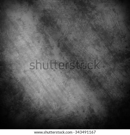 Silver metal texture. Dark old metal plate - stock photo