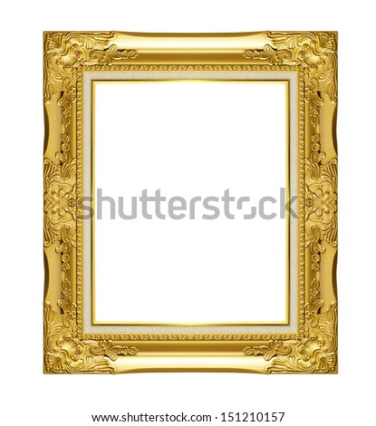 Silver picture frame. Isolated on black background - stock photo