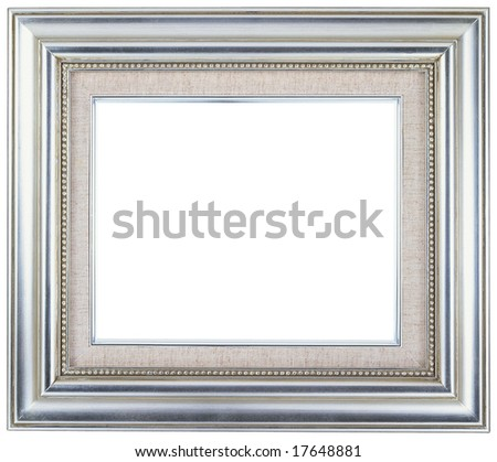 Silver picture frame with a decorative pattern - stock photo