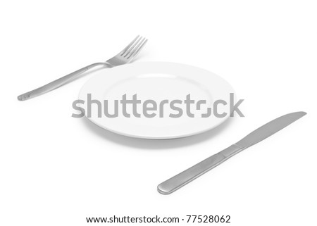 Silver plug isolated on white background - stock photo