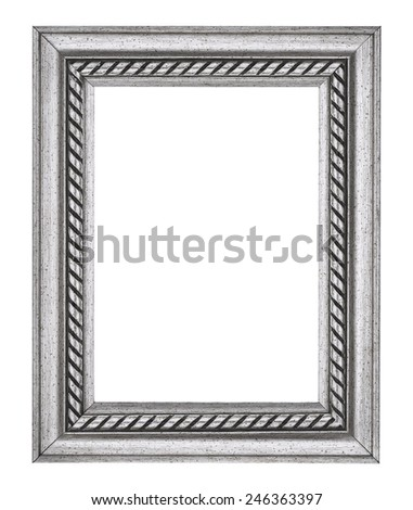 Silver Rope Picture Frame - stock photo