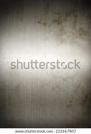 Silver rusty brushed metal background texture  wallpaper - stock photo