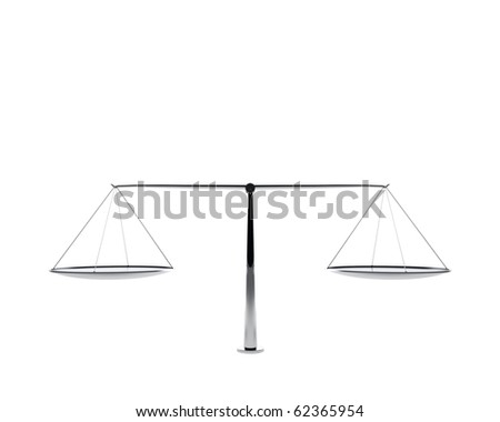 silver scales isolated - stock photo