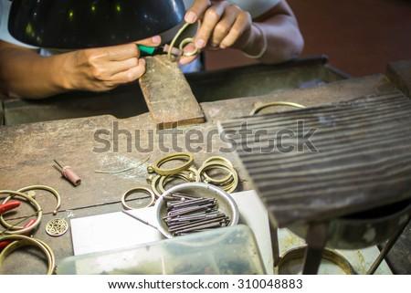 Silver smith - stock photo