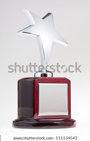 silver star award - stock photo