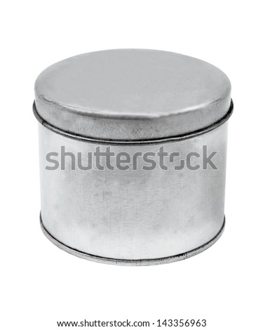 silver Tin Can design product package - stock photo