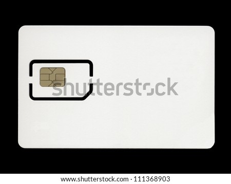 Sim card for mobile phone or smartphone or tablet computer - stock photo